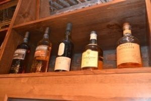Whiskey Selection at Bistro on Bridge